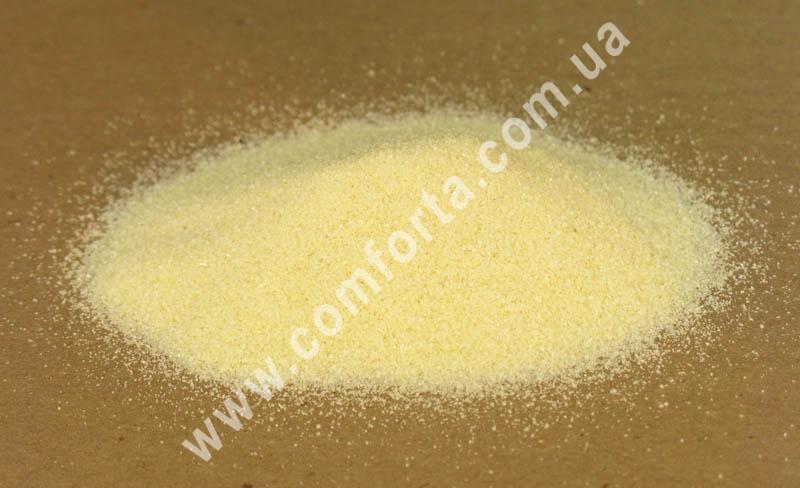 Цветной песок мраморный бежевый, вес ~ 1 кг, фракция ~ 0,2 - 0,5 мм
