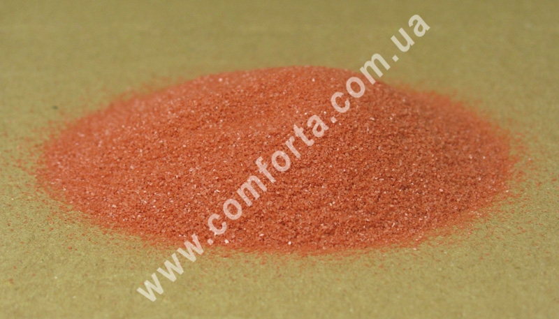 Цветной песок мраморный терракотовый, вес ~ 1 кг, фракция ~ 0,2 - 0,5 мм