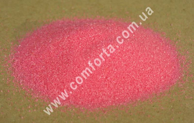 Цветной песок мраморный розовый, вес ~ 1 кг, фракция ~ 0,2 - 0,5 мм