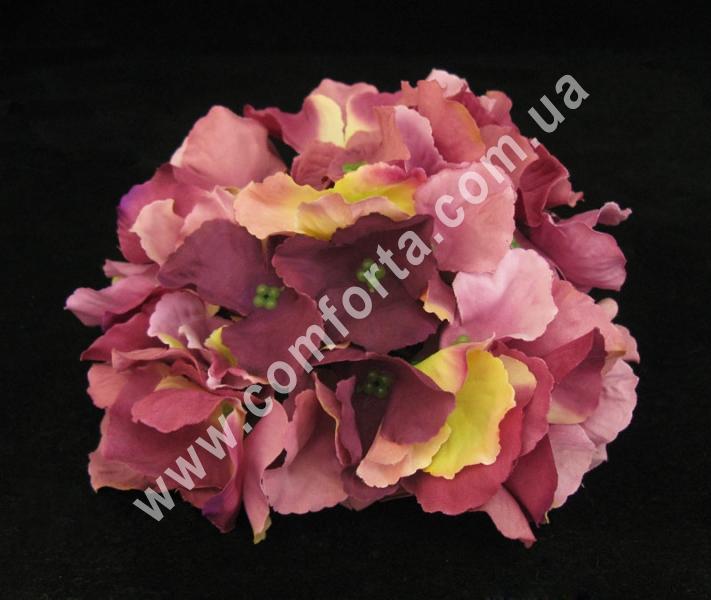 головка гортензии сиренево-розовая, диаметр - 15 см, материал - ткань
