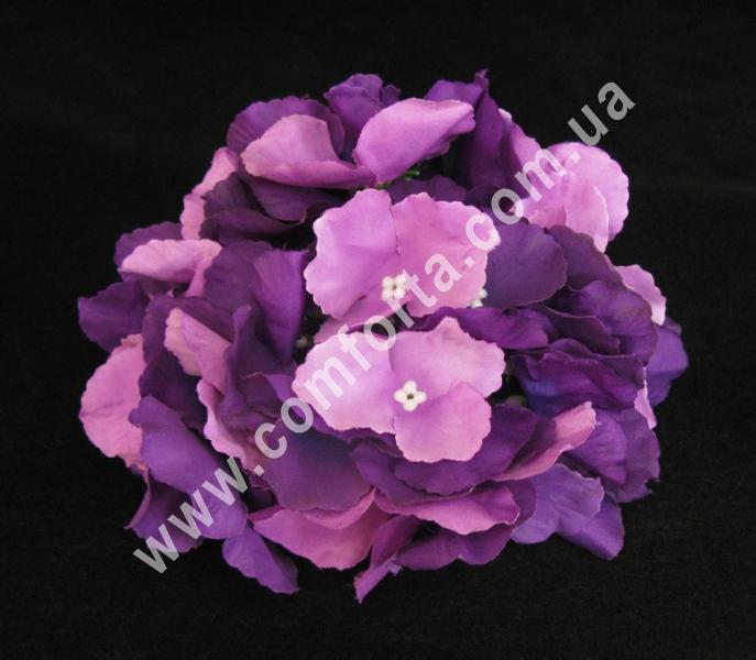 головка гортензии фиолетовая, диаметр - 15 см, материал - ткань