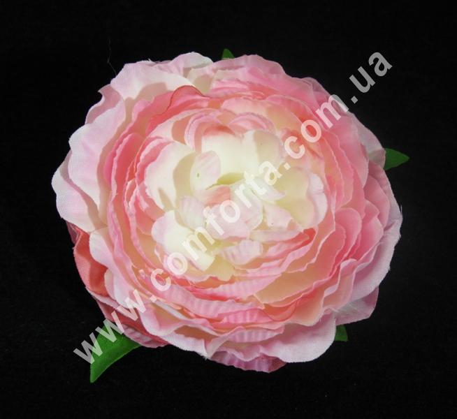 декоративная головка камелии, диаметр - 9 см, цвет - нежно-розовый