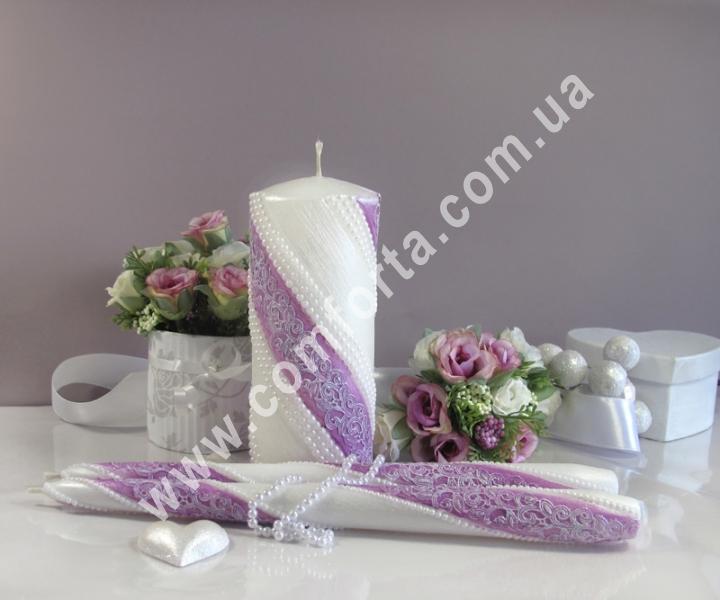 свадебные свечи для зажжения обряда семейный очаг, пурпурный цвет
