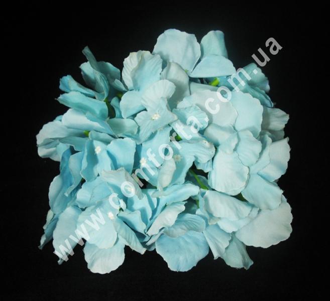 искусственная головка гортензии, диаметр - 18 см, цвет - голубой