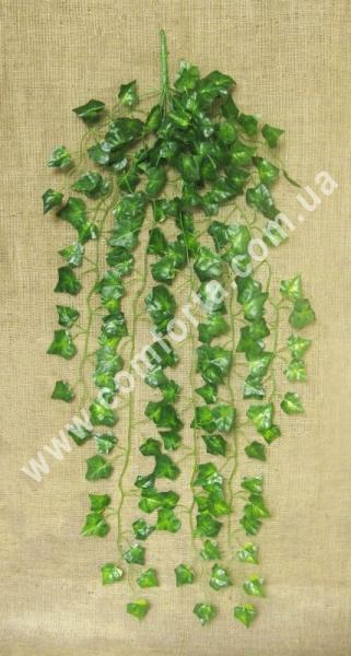 искусственная лиана из 9 веток с зелеными листьями плюща, длина - 95 см