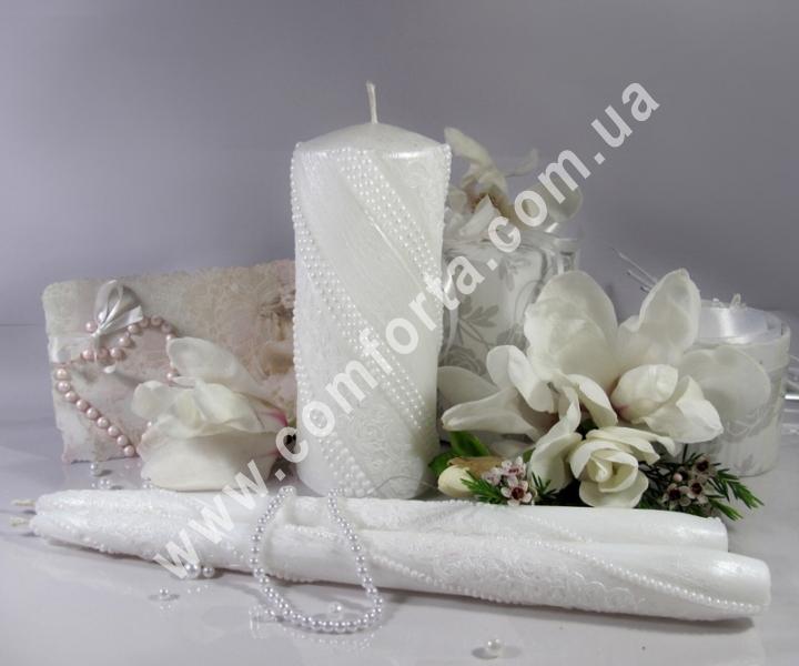 свадебные свечи для зажжения обряда семейный очаг, цвет белый пастельный