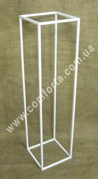 декоративные разборные колонны, высота - 80 см, ширина - 20 см, материал - металл, цвет - белый