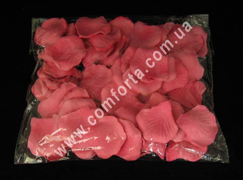 искусственные лепестки роз ярко-розового цвета в упаковке по 1600 штук