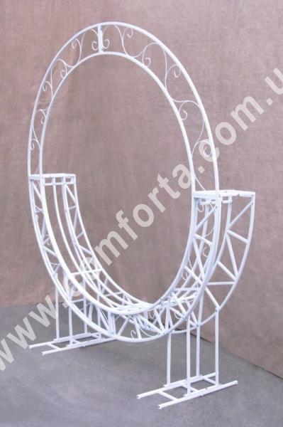 каркас свадебной арки - качели для оформления фотозоны, фотосессии, высота - 2,4 м, ширина - 2,1 м, материал - металл