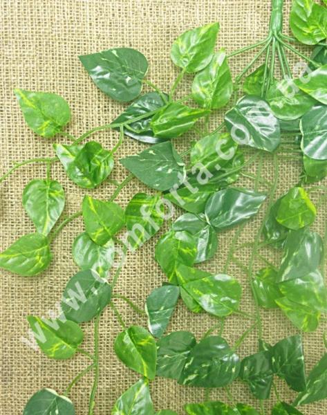 лиана из искусственных листьев диффенбахии зеленого цвета, длина - 95 см