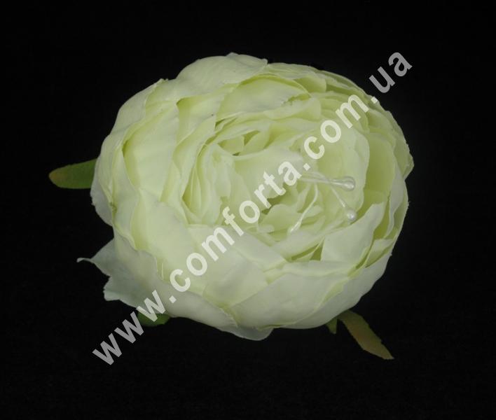 Искусственная головка пиона кремовая, диаметр ~ 9 см, цветок искусственный