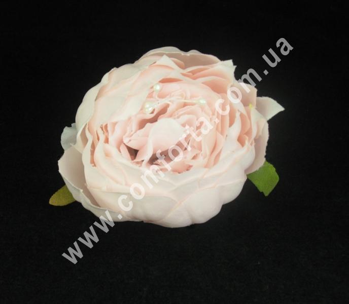 Искусственная головка пиона нежно-розовая, диаметр ~ 9 см, цветок искусственный