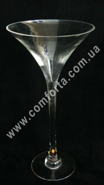 ваза стеклянная мартинка, высота - 50 см, диаметр - 25 см
