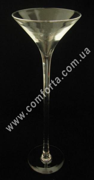 ваза стеклянная мартинка, высота - 50 см, диаметр - 17 см