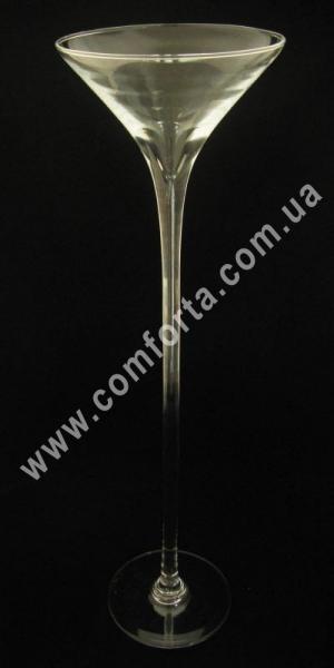 ваза стеклянная мартинка, высота - 60 см, диаметр - 17 см