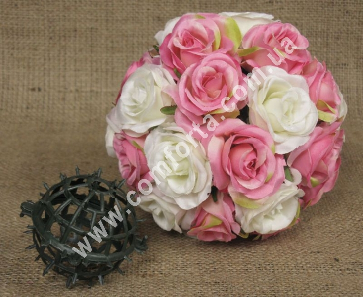 пластиковая основа шар с шипами для подвесных цветочных композиций, диаметр - 7 см