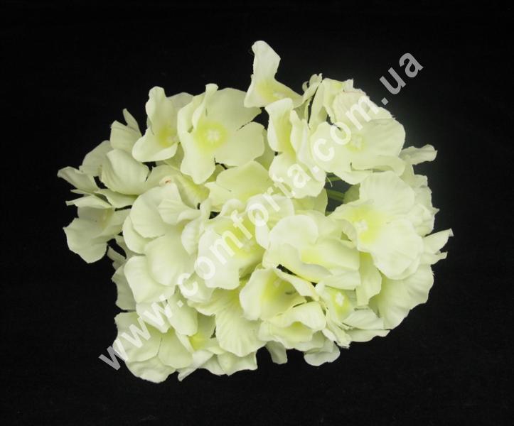 Искусственная головка гортензии цвет шампань, диаметр ~ 16 см, цветок искусственный
