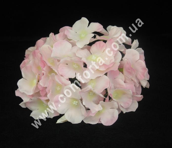 Искусственная головка гортензии нежно-розовая, диаметр ~ 16 см, цветок искусственный