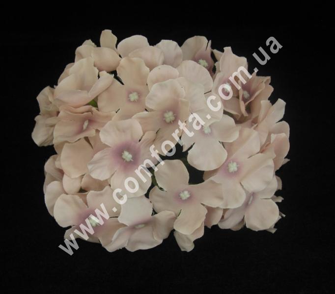 Искусственная головка гортензии пудровая, диаметр ~ 16 см, цветок искусственный