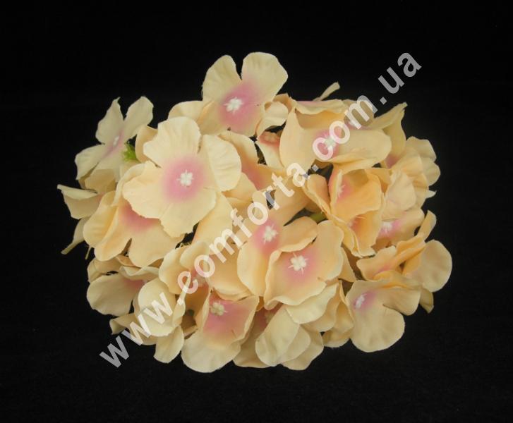 Искусственная головка гортензии персиковая, диаметр ~ 16 см, цветок искусственный
