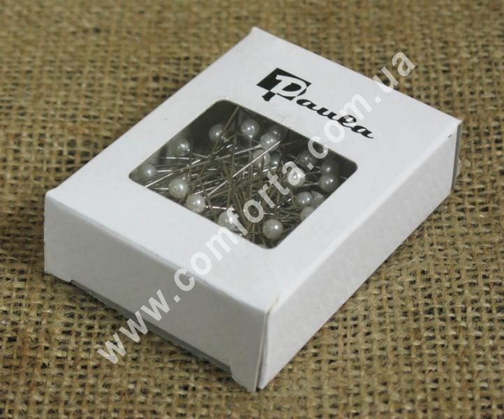 булавки с перламутровыми жемчужными головками диаметром - 4 см, материал - пластик, цвет - белый