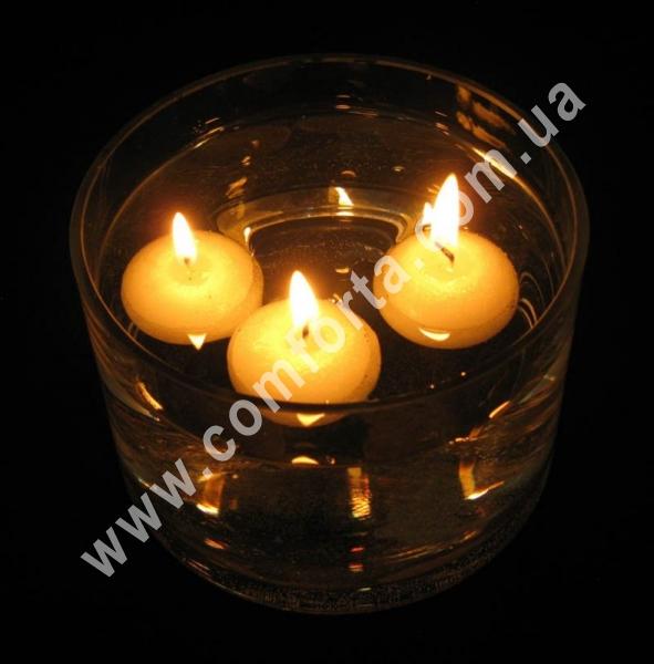 Свечи плавающие парафиновые