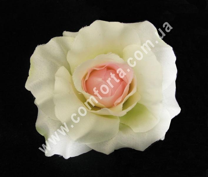 искусственная головка розы, диаметр - 11 см, цвет - персиковый