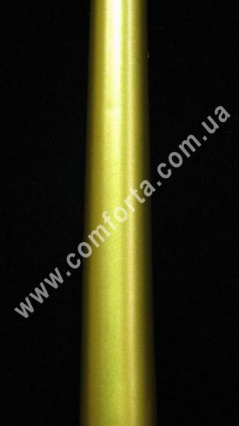 тонкая свеча в форме конуса, высота - 24,5 см, диаметр - 2,3 см, цвет - золотой
