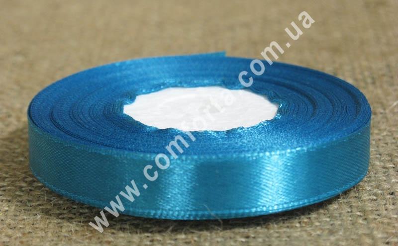 лента атласная, ширина - 1,2 см, длина - 23 м, цвет - светло-синий
