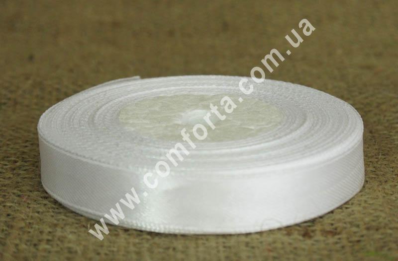 лента атласная, ширина - 1,2 см, длина - 23 м, цвет - белый