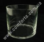 25976 Цилиндр, высота 12 см, диаметр 15 см, ваза стеклянная