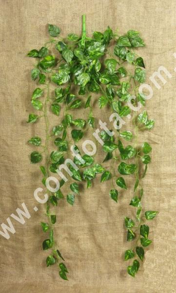 27108 Искусственный ампельный куст, 8 веток, высота ~ 95 см, зелень декоративная