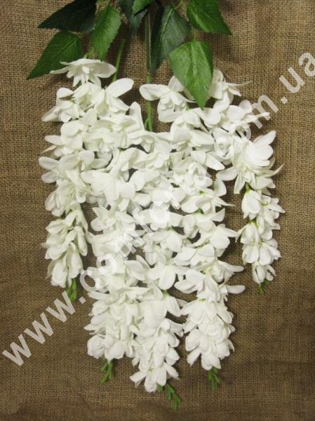 30774-01 Глициния кремовая, 5 веток, длина ~ 65 см, цветок искусственный