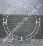 30808 Флора, арка свадебная круглая плоская разборная, высота 2,12 м, ширина 2,1 м, каркас металлический