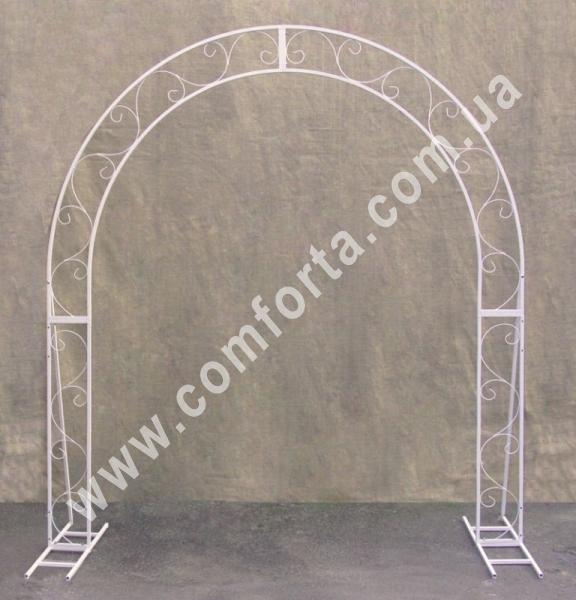 полукругая свадебная арка серии Флора, высота - 2,3 м, ширина - 2,1 м, материал - металл