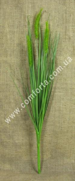 искусственная трава осока с колосками, высота куста - 70 см, декоративная зелень