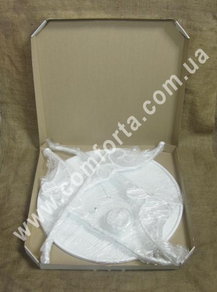 разборной столик со сплошной столешницей, высота - 80 см, диаметр - 60 см, материал - металл