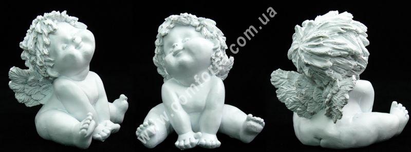 маленькая фигурка ангелочка симпатяжки, высота - 12 см, ширина - 12 см, материал - полистоун