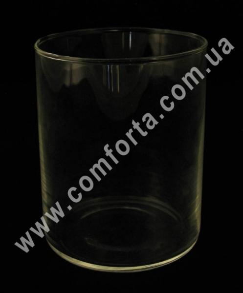 33055 Цилиндр, высота ~ 11,5 см, диаметр ~ 9 см, ваза стеклянная ― Комфорта - свадебный декор и аксессуары, опт и розница (ru) 33055_1 www.comforta.com.ua
