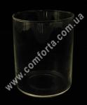 33055 Цилиндр, высота 11,5 см, диаметр 9 см, ваза стеклянная