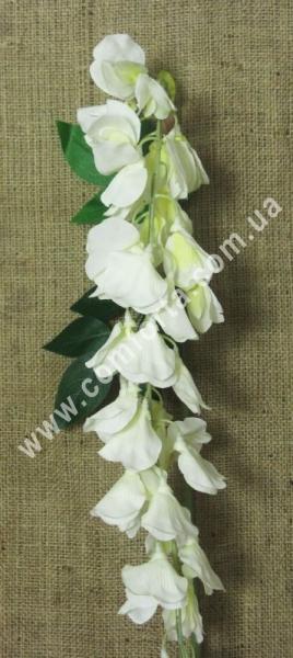 33187-01 Глициния большая кремовая, высота ~ 185 см, цветок искусственный