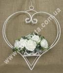 33273 Сердце подвесное, металлический декор