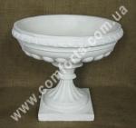 33625 Чаша, ваза круглая белая, диаметр 45 см, высота 40 см