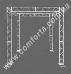 33994 Флора, шатер свадебный разборный, высота 2,6 м, ширина 2,5 м, длина 2,1 м, каркас металлический