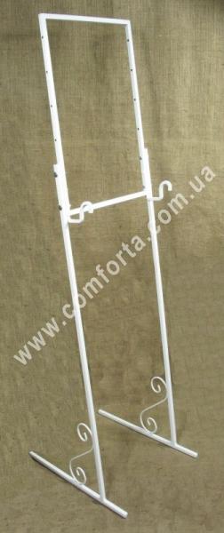 свадебная подставка для плана рассадки гостей, высота - от 1,2 до 1,6 м, ширина - 44 см, материал - металл