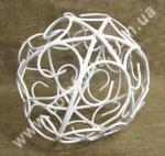 34109 Ажур, шар металлический, диаметр 20см, декор подвесной