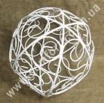 34110 Ажур, шар металлический (диаметр 30 см), декор подвесной